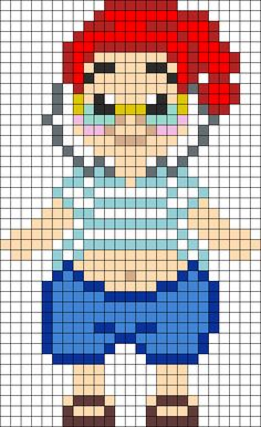 Mister Smee Perler Bead Pattern | Bead Sprites | Characters Fuse Bead Patterns