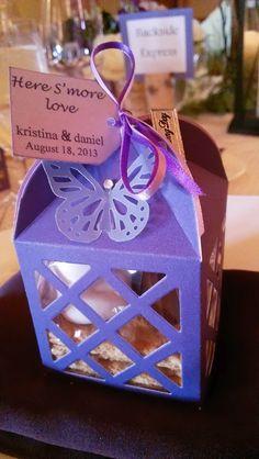 Daniel and Kristina's Wedding Favor. Ritz Carlton Lake Tahoe. S'mores Favor.