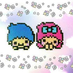 Little Twin Stars perler beads by v.moe.v