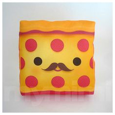 Food Pillow Pepperoni Pizza Pizza Pillow Birthday Party by mymimi, $14.00