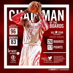 Really nice postgame infographic from the Rockets for Dwight's debut