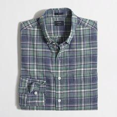 Factory slim plaid homespun shirt : Men | J.Crew Factory