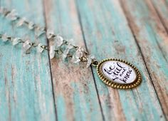Be Still and Know Quartz Chained Necklace Hand Lettered Bible
