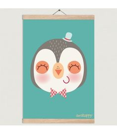 Lámina infantil Pinguino