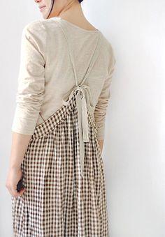 관련 이미지 Number 8, Aprons, Smocking, Casual Outfits, Couture, Sewing, Detail, Skirts, Clothes