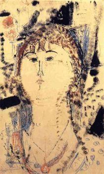 Rosa Porprina by Amedeo Modigliani - Canvas Art Print Amedeo Modigliani, Modigliani Paintings, Georges Braque, Italian Painters, Italian Artist, Chaim Soutine, Piet Mondrian, Art Moderne, Renoir