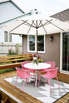 Bright + fun outdoor summer space (click through for before and after pics)