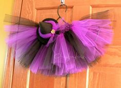 Witch tutu and minihat set toddler halloween costume by obabybiz, $22.00
