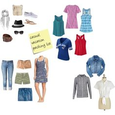Casual vacation packing list inspiration