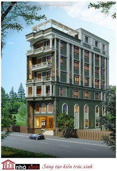 Nhà phố của cô Rạng ở Tiền Giang là một trong những mẫu nhà phố đẹp với sự kết hợp khéo léo và sáng tạo giữa phong cách cổ điển và phong cách hiện đại. Vẫn với đặc điểm đặc trưng của phong cách cổ là hệ vòm cuốn, kết hợp với cửa dạng vòm, và những hàng cột nhưng công trình còn được kiến trúc sư đan xen nhiều chi tiết của kiến trúc hiện đại như vật liệu ốp tường