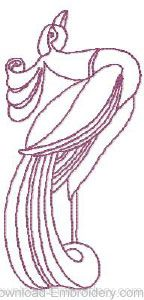 Art Nouveau Peacock 3