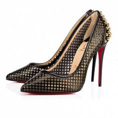 a3939d0476c9 Christian Louboutin United States Official Online Boutique - Guni Pump 100  Version Black Gold Leather available online. Discover more Women Shoes by  ...