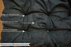 diamond tufted upholstered ottoman - 14