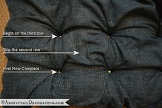 This is a great method for doing a headboard as well. diamond tufted upholstered ottoman - 14