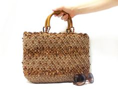 Crochet bag Handmade bag Crochet purse Brown bag by aynikki, $87.00