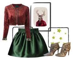 """Stag"" by engleann ❤ liked on Polyvore featuring moda, Monde Mosaic, RED Valentino i Jean-Paul Gaultier"
