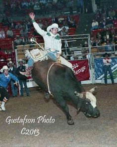 Lane Frost on 65 Jumping Jack at the Pro Tour rodeo in Wichita, KS 1988.