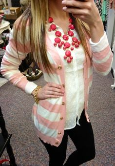 Pink Striped Cardigan and so  Many other cute things fom SexyModest boutique