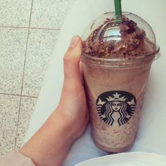 Starbucks!!!! I wanna go there sometime...I never have gone there before though...it looks so yummy! OuO
