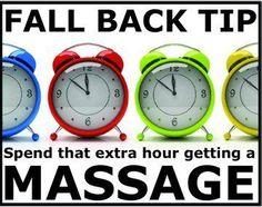 Fall back into a massage !