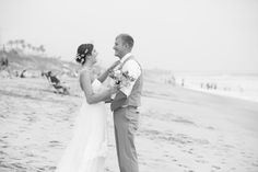 Carlsbad CA beach wedding bride and groom photo during first look