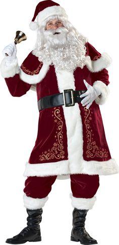 RUBIES PLUSH REGENCY SANTA CLAUS KRINGLE SUIT HOLIDAY CHRISTMAS XMAS COSTUME XL