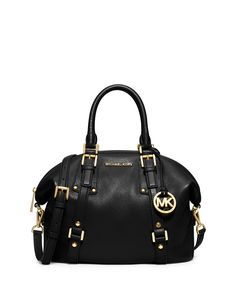 MICHAEL Michael Kors Bedford Belted Medium Satchel Bag, Black, Size: M