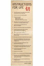 Instructions for lIfe (Dalai Lama) Slim Poster