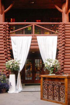 wedding reception entrance; photo: Annabella Charles