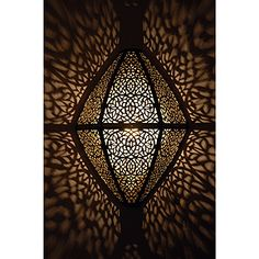 Brass Moroccan lamps cast stunning shadowplay