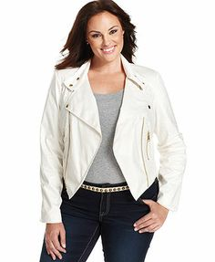 Debbie Morgan Plus Size Jacket, Faux-Leather Motorcycle (in black, size 1X please) on sale for $40
