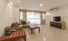 2 Bedroom Condo for Rent at Serene Place To find out more of this building & available apartments or condos for rent, go to:   http://bangkokcondofinder.com/?pagename=search-results&price=75000 This 2-bedroom condo for rent at Serene Place on Sukhumvit Soi 24 covers 108 square meters of the total floor area. This low rise building is fully furnished, modern and available now on freehold. The combined living room and dining room is decorated with wicker sofas, coffee t