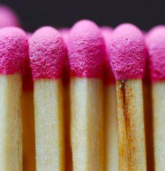 pink matchsticks