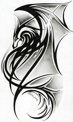 Image detail for -File:Dragon tattoo II by Tatsu87.jpg - Tattoos Wiki