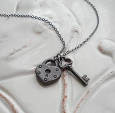 Lock and Key Charms Necklace