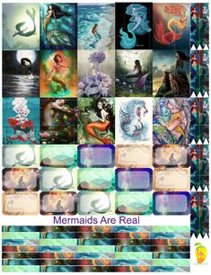"""""""Mermaids Are Real"""" Free Planner Stickers"""