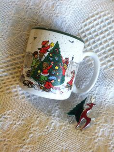 Christmas Scenes Mug Children Decorating Tree Family Choosing Christmas Tree Vintage 1989 Potpourri Press Ceramic Collectible Beverage Cup Christmas Gifts 2016, Christmas Mugs, Christmas In July, Etsy Handmade, Handmade Crafts, Special Gifts, Great Gifts, Dining Decor, Christmas Scenes