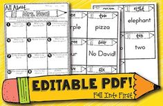 All About My Teacher! Editable PDF Around the Room