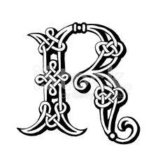 Celta letra R ilustración de stock libre de derechos