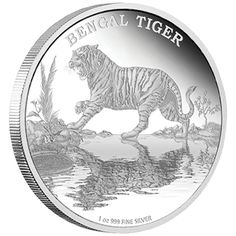 2 Dollar Silber Bengaltiger PP Mint Coins, Silver Coins, Valuable Coins, Steamboat Willie, Coin Shop, Coins For Sale, Silver Bullion, Proof Coins, Bengal Tiger