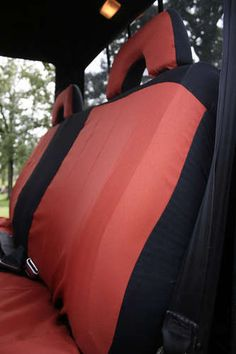 HQ Black Rear Back Waterproof Car Seat Cover Protector For Jeep Renegade 2015 On