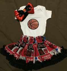 A personal favorite from my Etsy shop https://www.etsy.com/listing/264729892/chicago-bulls-outfit