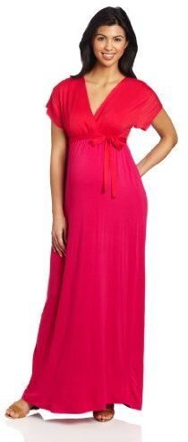 08ccc296307 A Sassy Red Formal Maternity Dress!