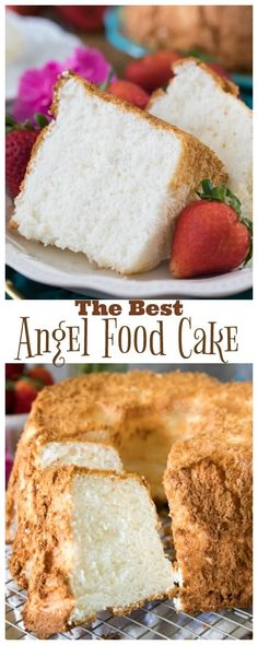 How to make Angel Food Cake from scratch this recipe is ALWAYS a hit angelfoodcake cake recipe baking homemade Angle Food Cake Recipes, Homemade Cake Recipes, Baking Recipes, Homemade Food, Angel Cake, Angel Food Cakes, Bunt Cakes, Cupcake Cakes, Cupcakes
