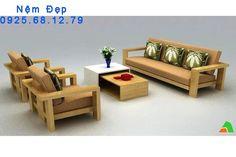 nệm lót ghế gỗ vải hiện đại