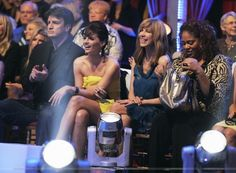 "#StanaKatic & #NathanFillion at the audience of ""Dancing With The Stars""."