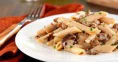 Barilla Penne with Italian Sausage and Porcini Mushroom Cream Sauce Barilla Recipes, Penne Recipes, Gourmet Recipes, Cooking Recipes, Healthy Recipes, Savoury Recipes, Sauce A La Creme, Mushroom Cream Sauces, Confort Food