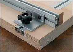 Équerre pour coulisses en « T » Veritas® - Travail du bois