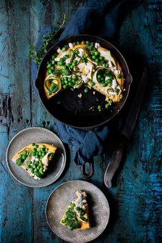 Green polenta pizza / Marta Greber