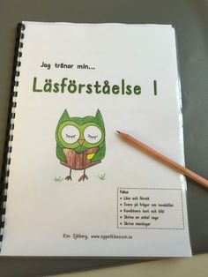 Läsförståelse. Häfte och arbetsuppgifter åk 1. Teacher Education, School Teacher, Pre School, Teacher Resources, Middle School, Teaching Ideas, Reading Activities, Reading Skills, Guided Reading